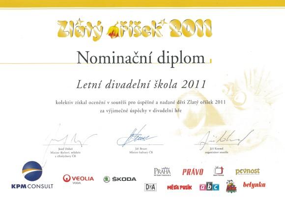 Zlatý oříšek - diplom